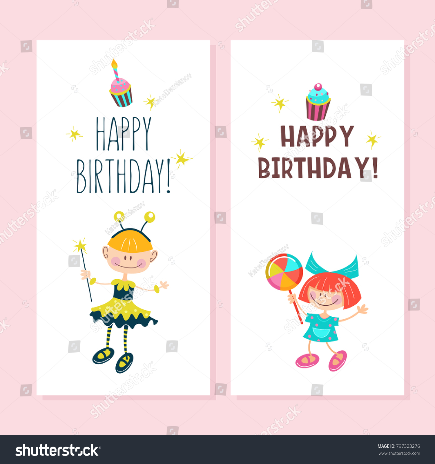 Happy birthday greeting cards cute girls stock vector 797323276 happy birthday greeting cards cute girls stock vector 797323276 shutterstock bookmarktalkfo Image collections