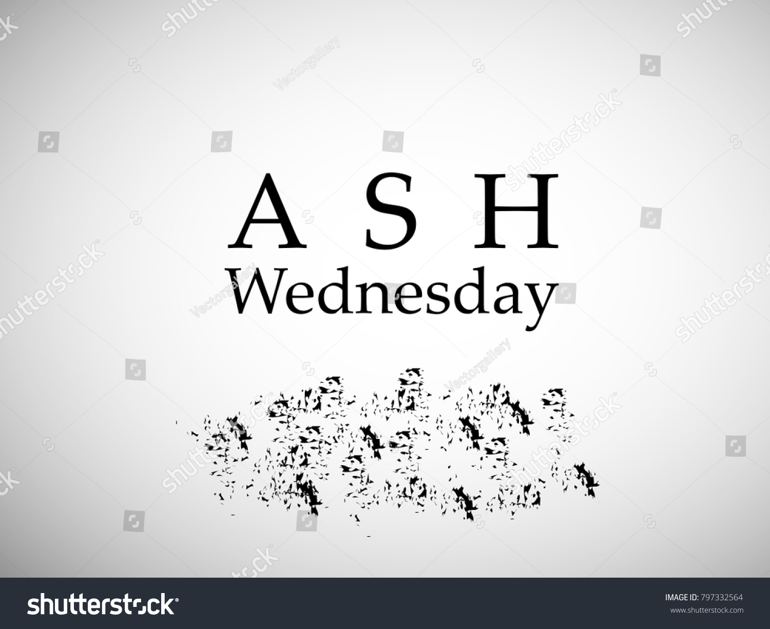 Illustration Ashes Ash Wednesday Stock Vector Royalty Free