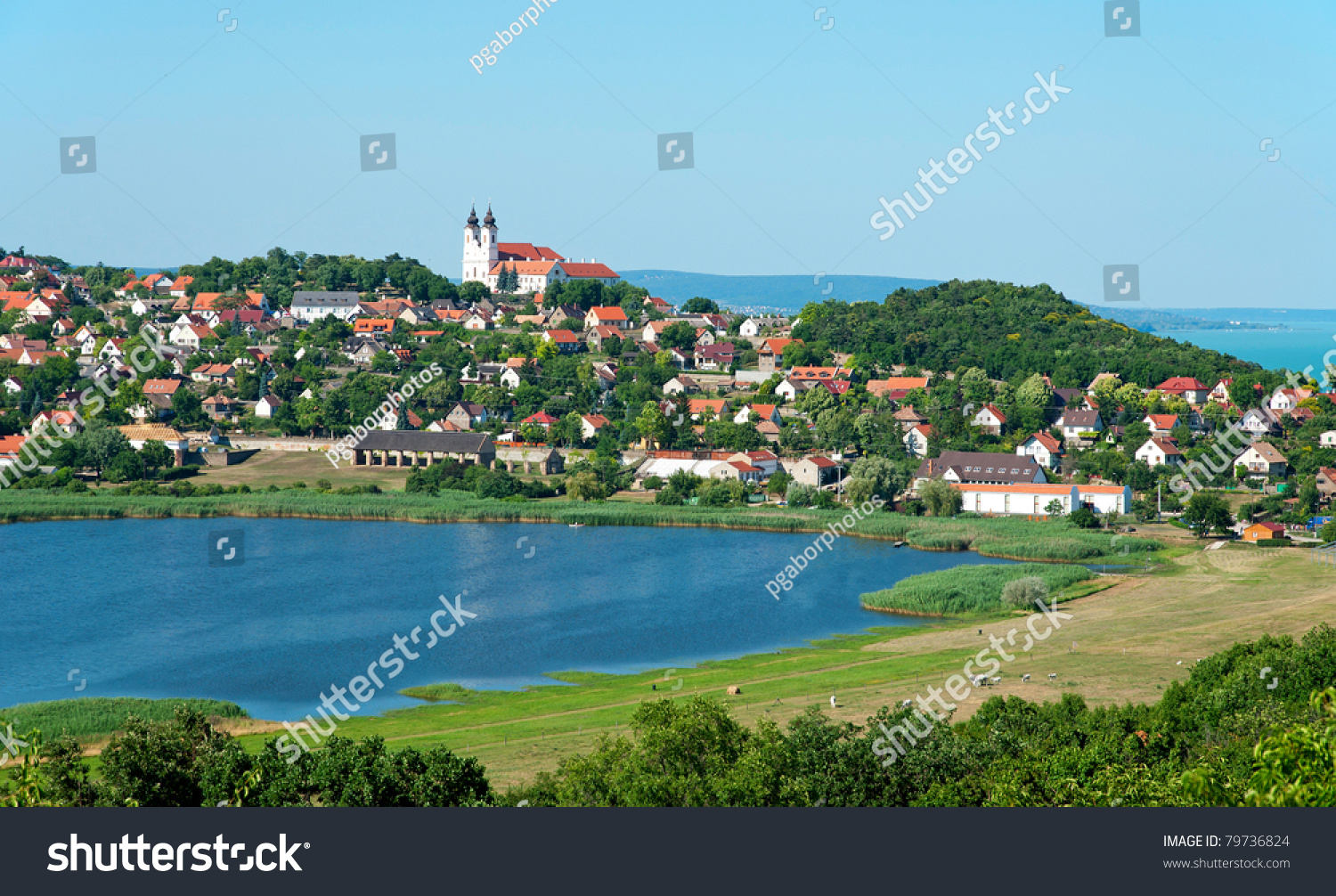Tihany Hungary  city images : Landscape Of Tihany, Hungary Stock Photo 79736824 : Shutterstock