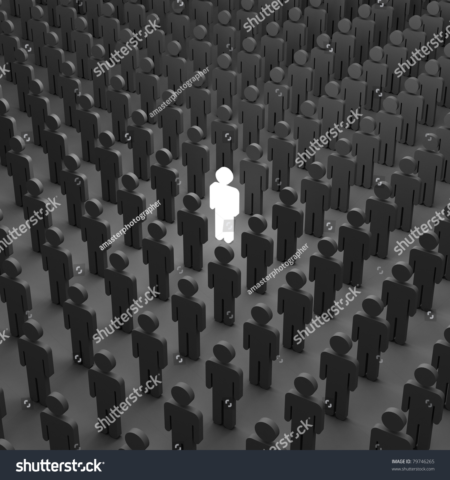 One Person Standing Out In A Crowd Stand Out Crowd Stock ...