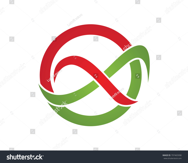 Infinity Logos Symbols Template Icons App Stock Vector Royalty Free