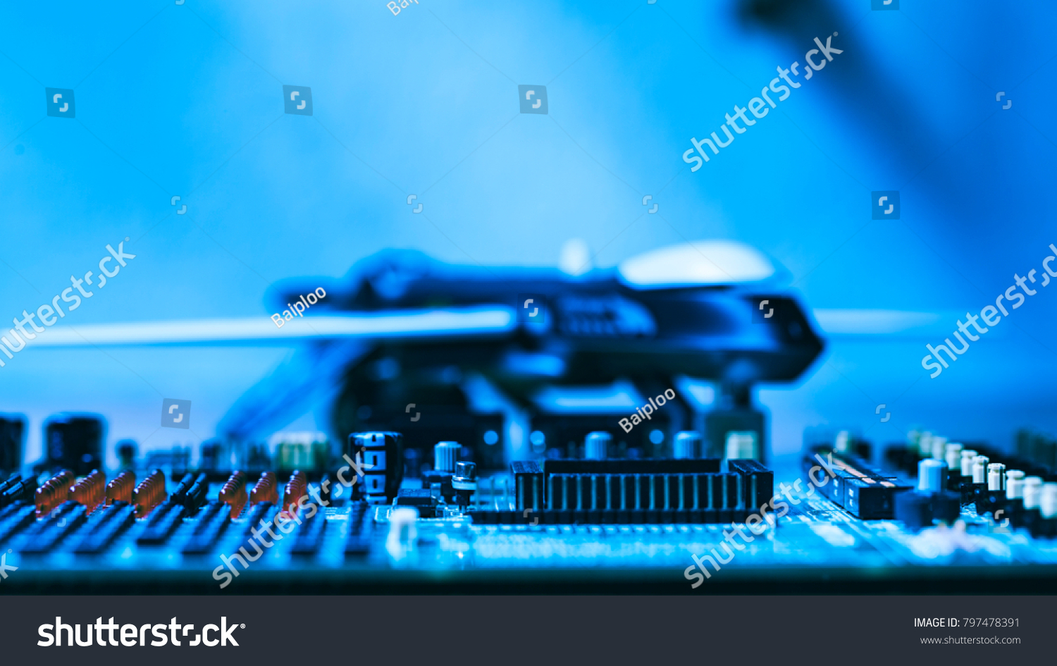 Abstract Background Real Electronic Printed Circuit Stock Photo Board Photos Images Pictures Shutterstock Of With Military Drone Helicopter In