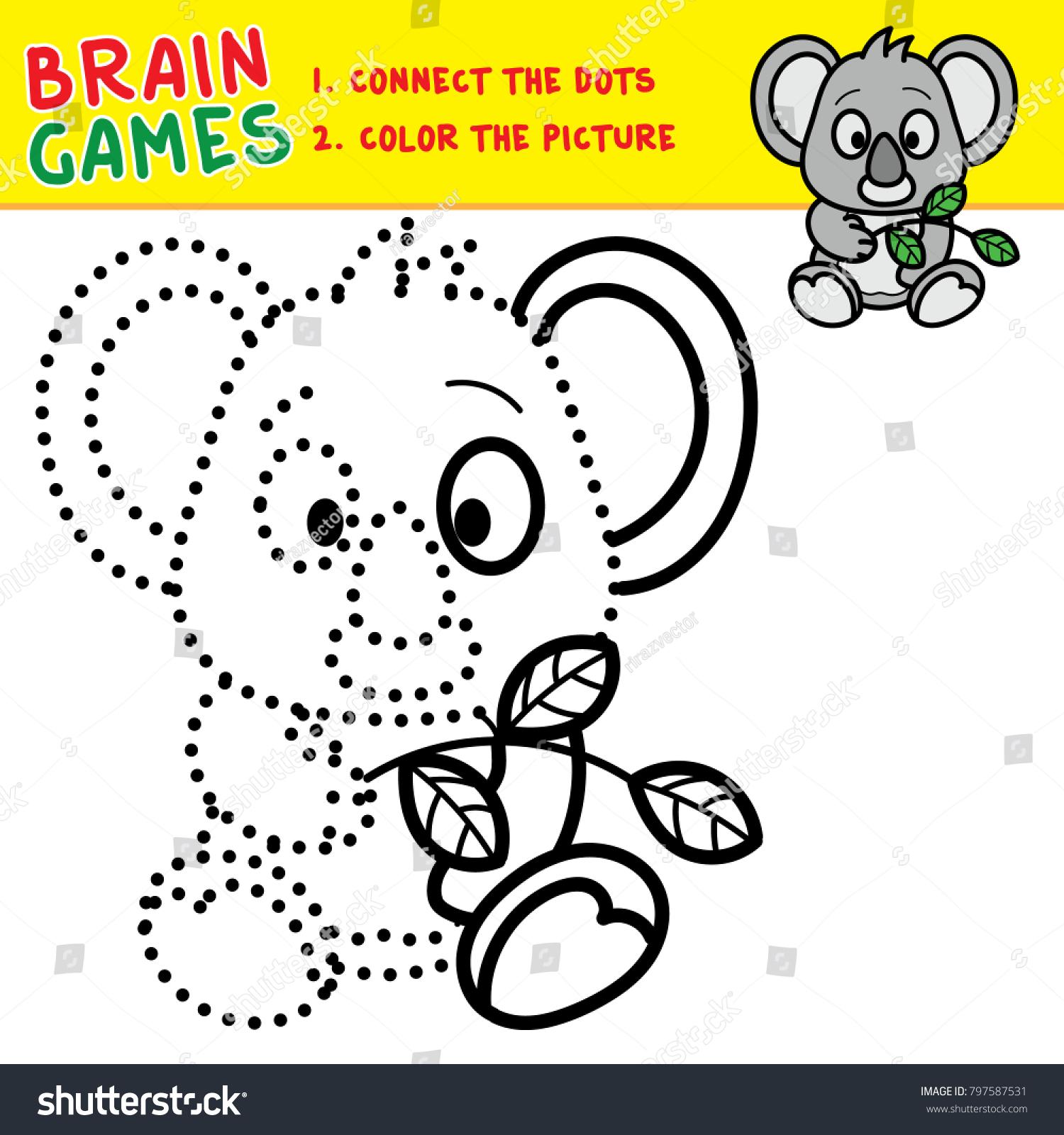 koala coloring page kids brain games stock vector royalty free 797587531 https www shutterstock com image vector koala coloring page kids brain games 797587531