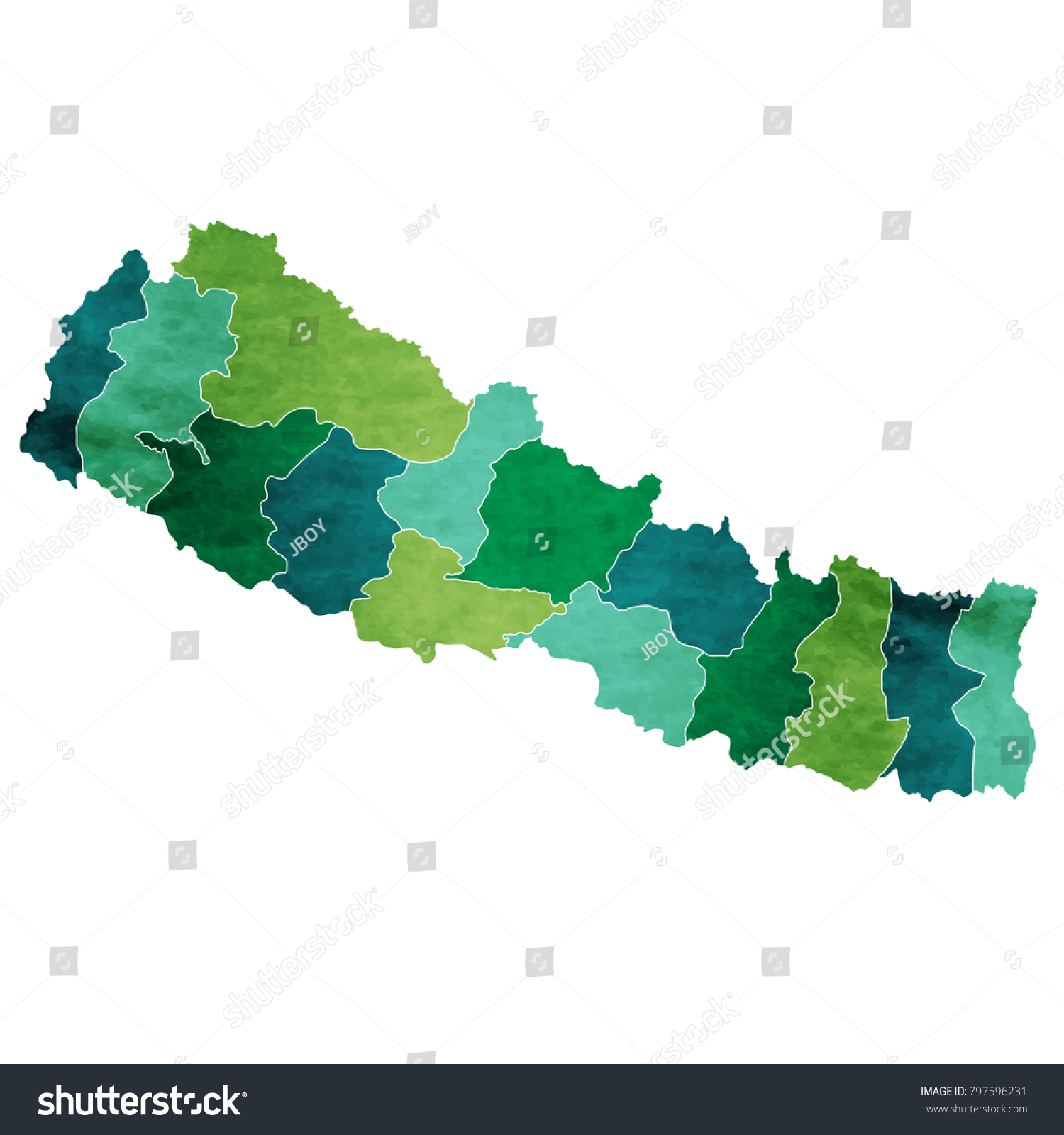 Nepal World Map Country Icon Stock Vector 797596231 - Shutterstock