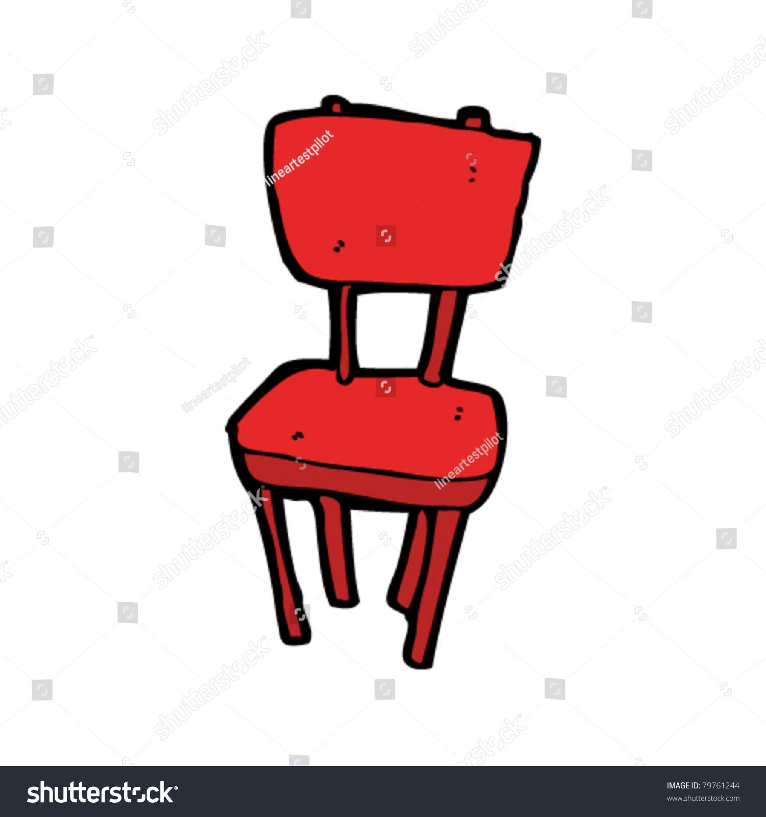 Red School Chair Cartoon Stock Vector Shutterstock