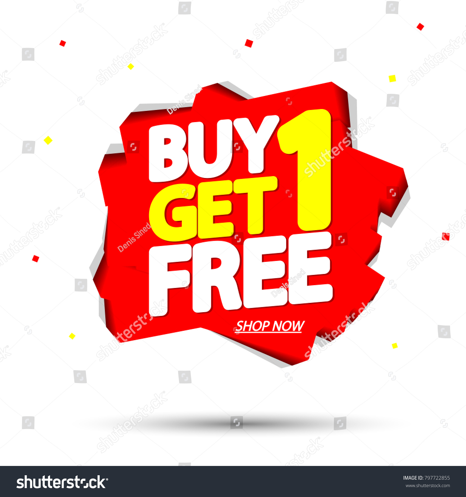 Buy 1 Get 1 Free Sale Stock Vector (Royalty Free) 797722855