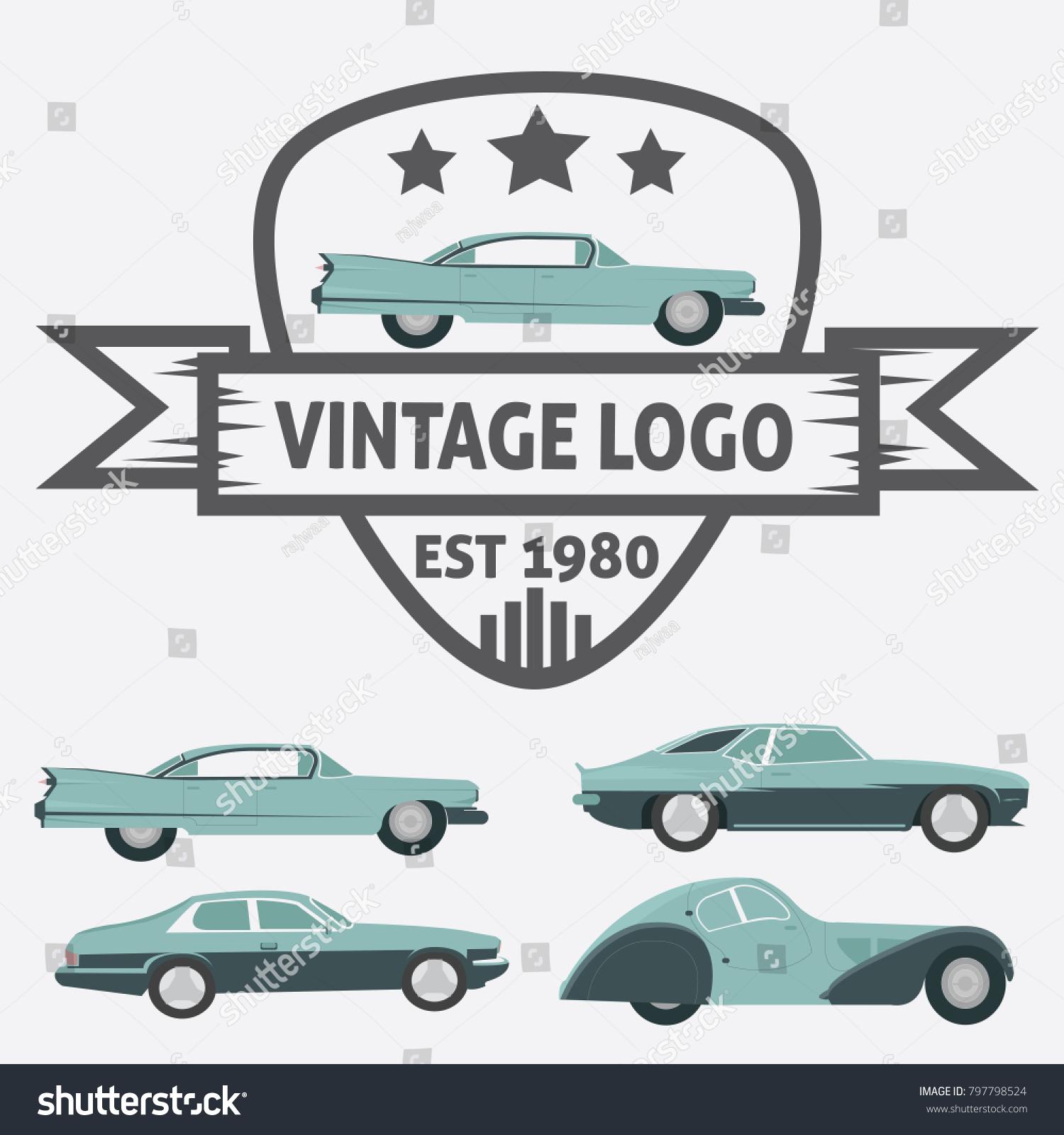 Car Vintage Logo Your Logo Retro Stock Vector 797798524 - Shutterstock