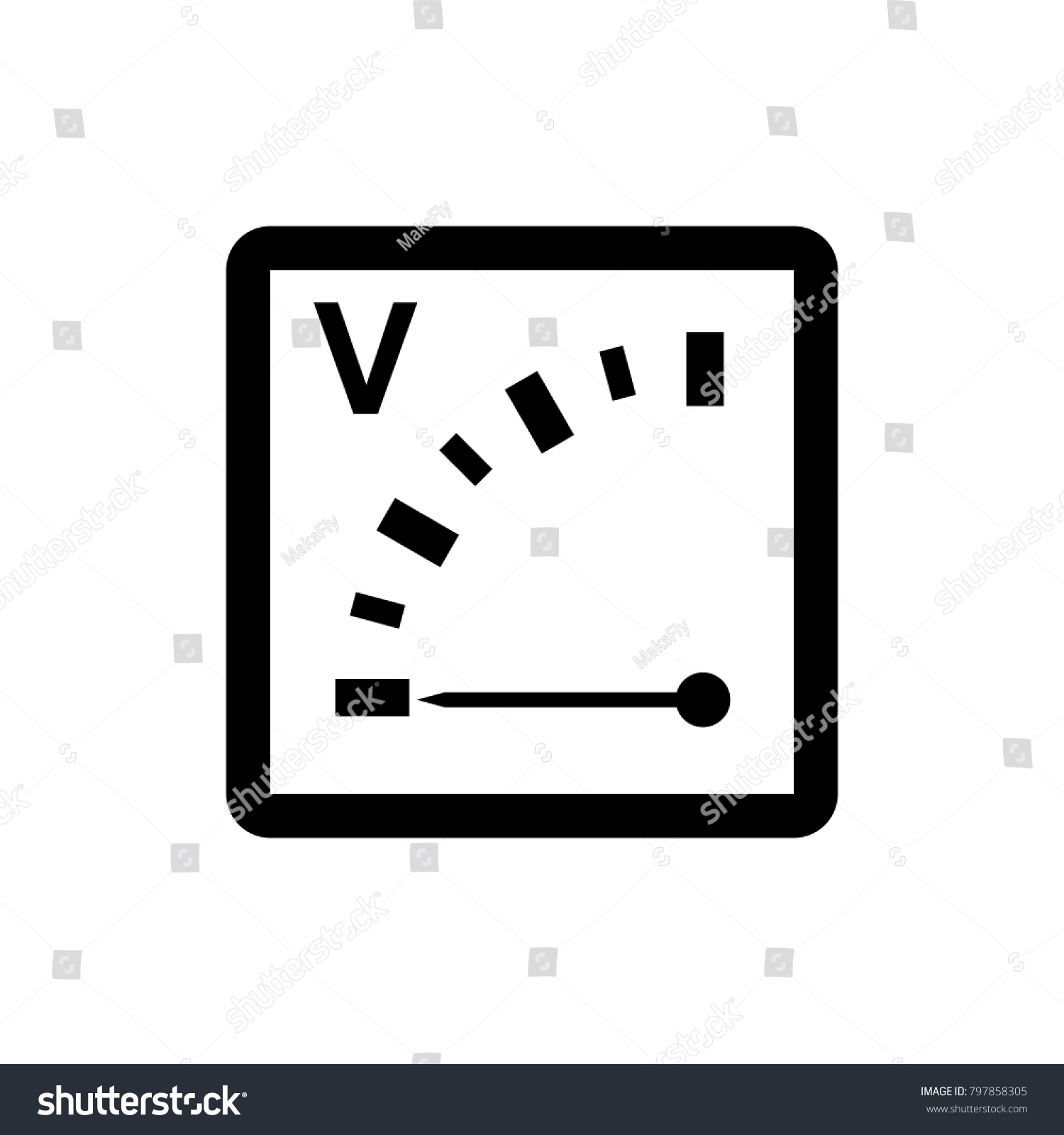 Voltmeter Icon Sign Design Stock Vector HD (Royalty Free) 797858305 ...