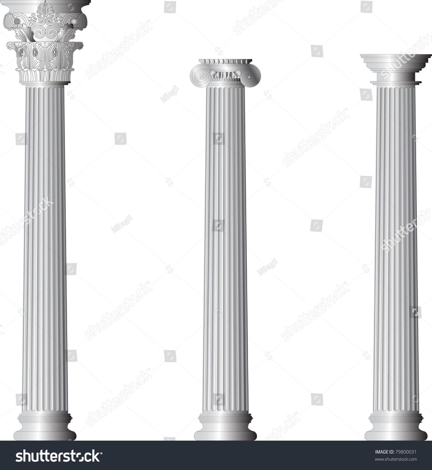 Corinthian ionic doric columns stock vector 79800031 for Doric columns