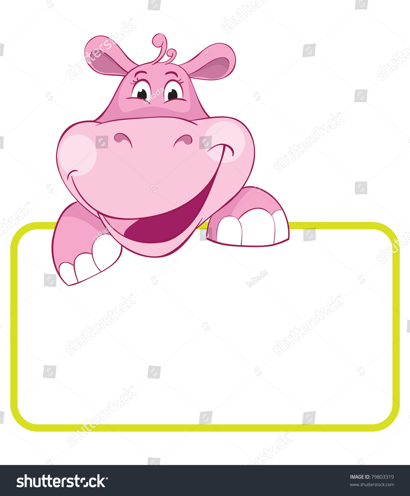 Baby animal banner hippo cartoon label stock illustration 79803319 baby animal banner hippo cartoon label biocorpaavc Gallery