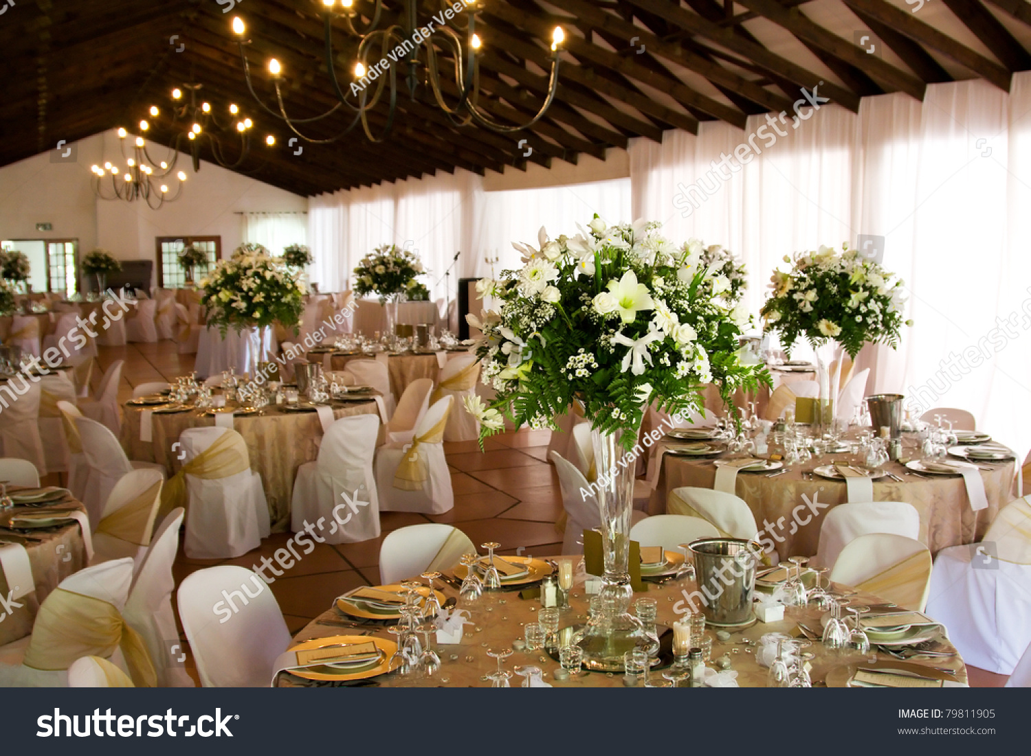 Indoors Wedding Reception Venue Selective Focus Stock Photo Edit