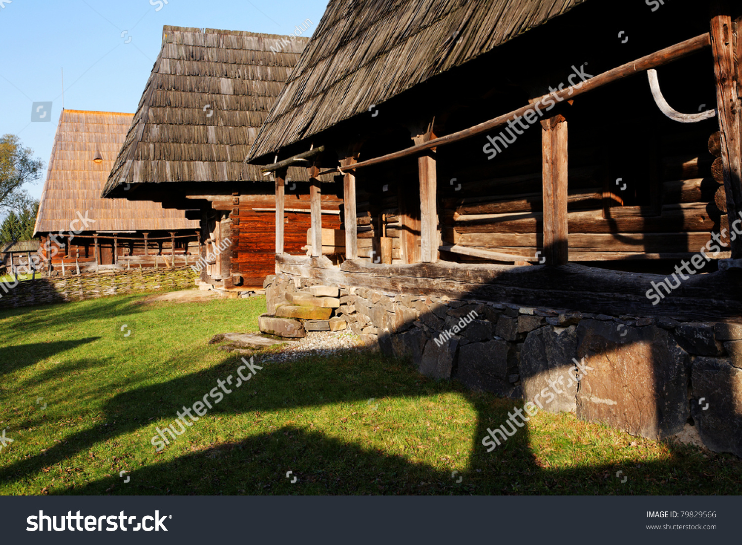 Traditional Wooden House In Maramures Romania Stock Photo 79829566 Shutterstock