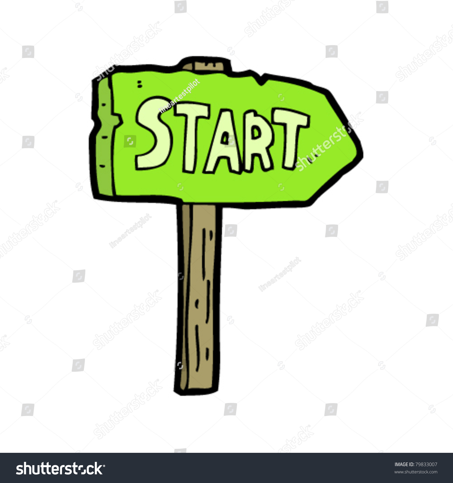 start sign cartoon stock vector royalty free 79833007 shutterstock