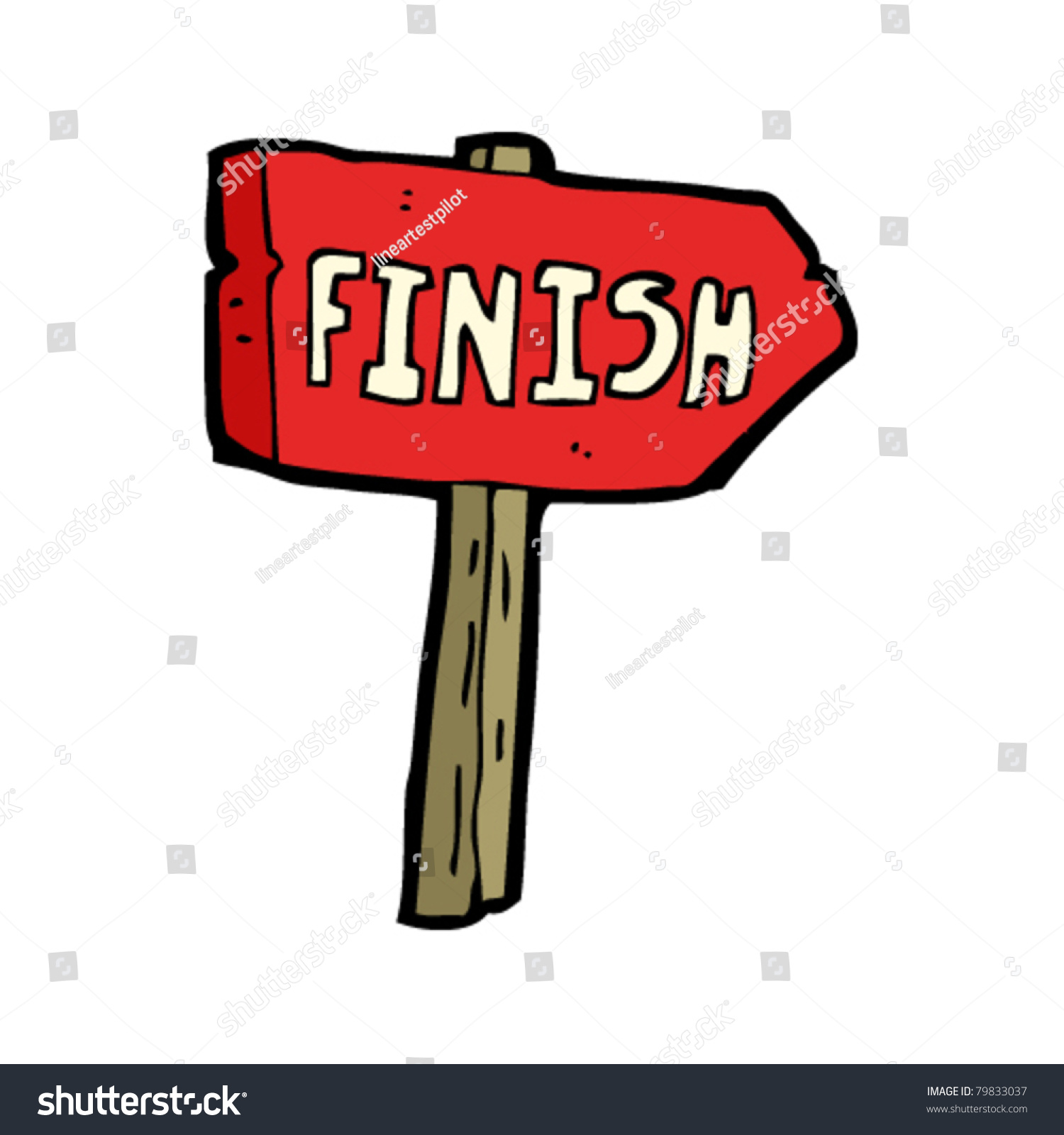 finish sign cartoon stock vector royalty free 79833037 shutterstock