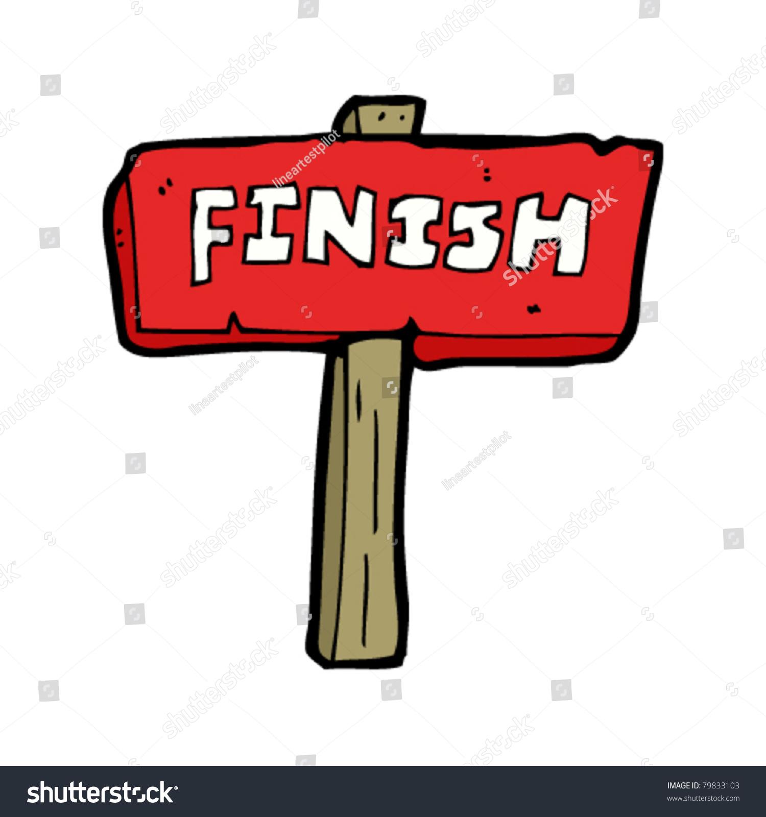 finish sign cartoon ez canvas