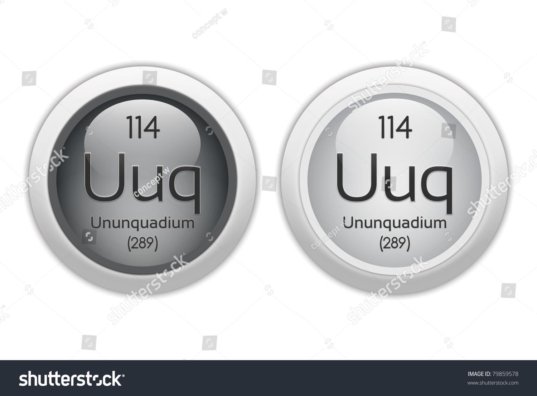 ununquadium web buttons chemical element with atomic number 114 it is represented by - Periodic Table Symbol Ununquadium