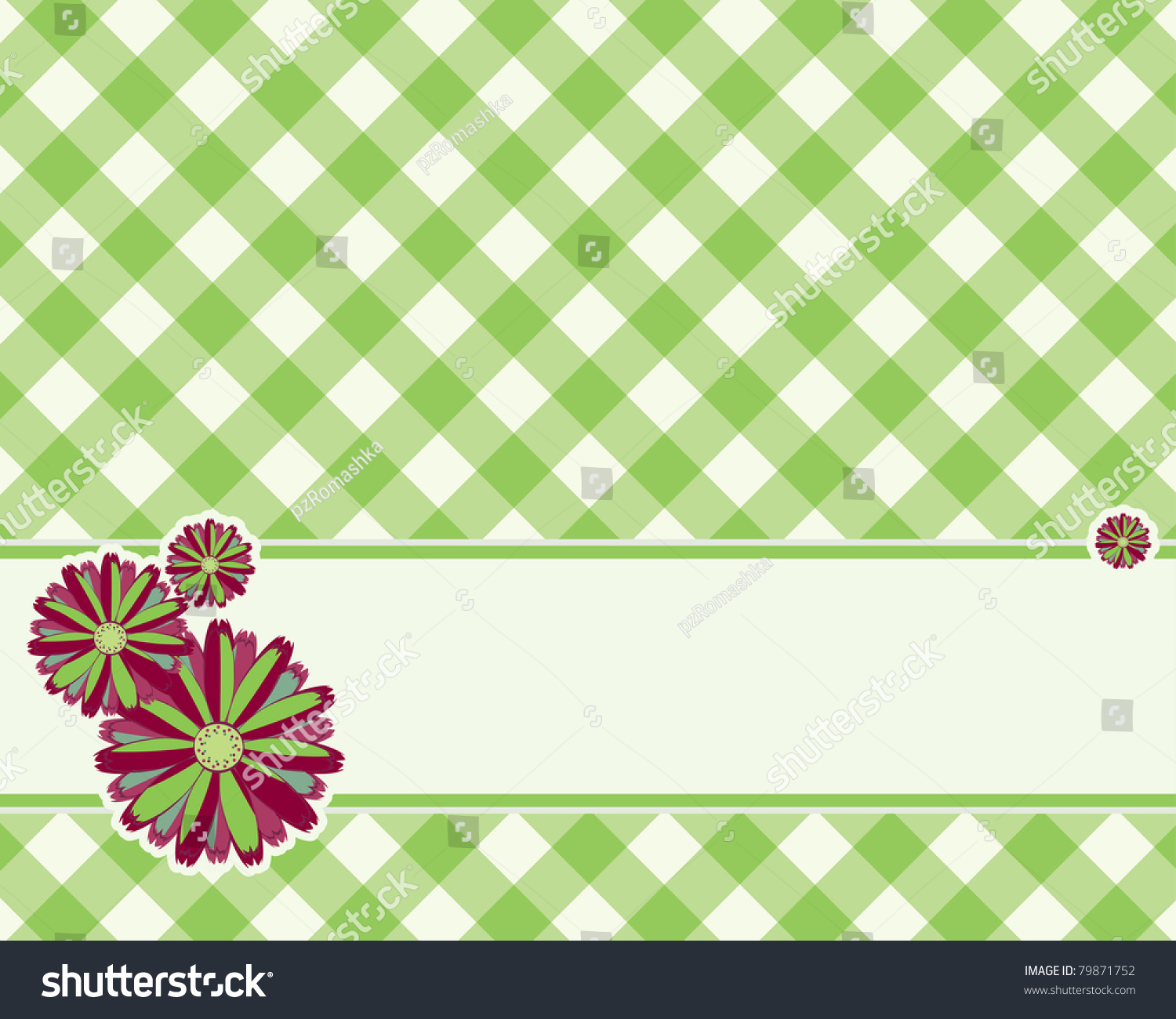 Checkered Background Light Green Color Decorated Stock Vector ...