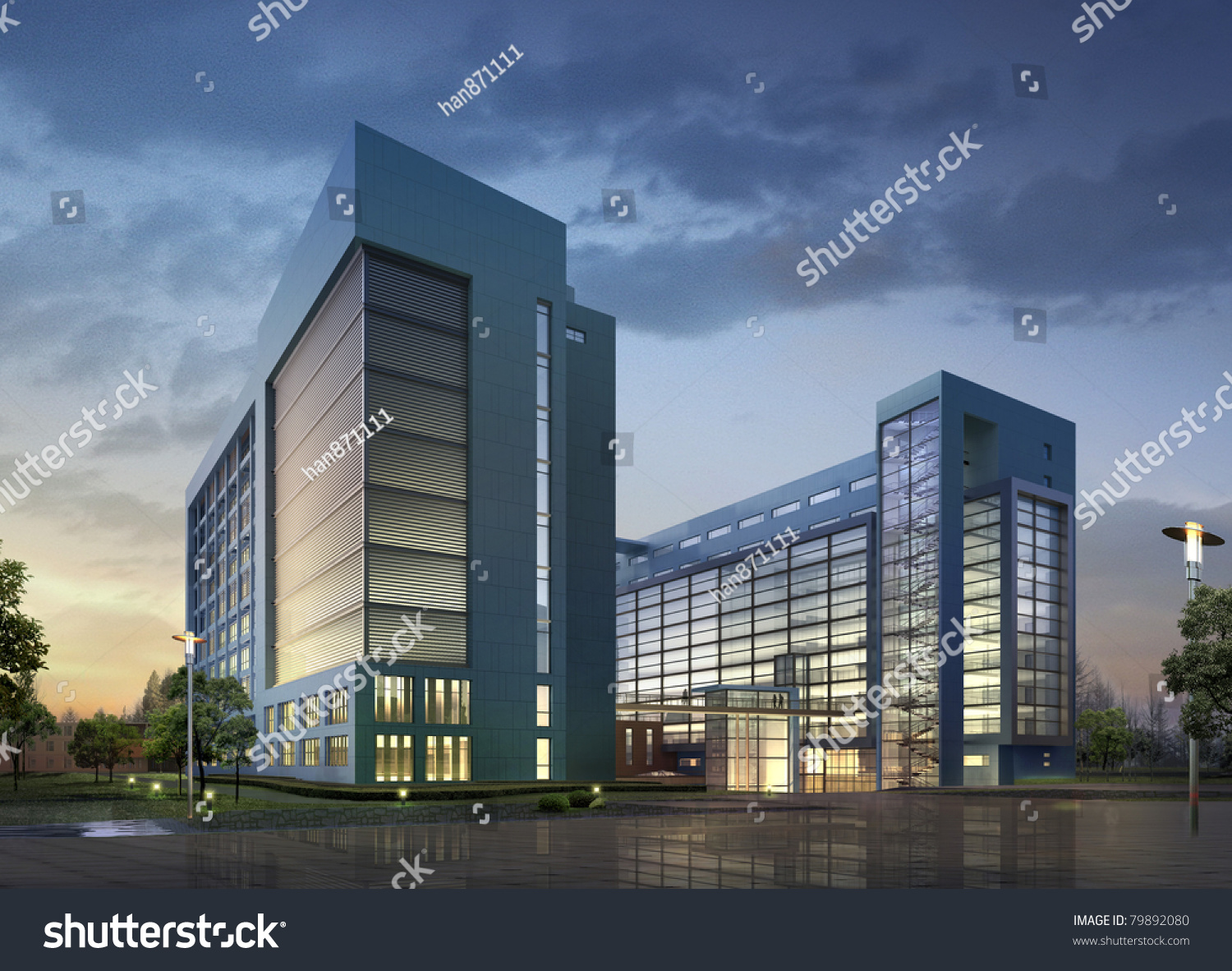 Modern business buildings images for Contemporary commercial buildings