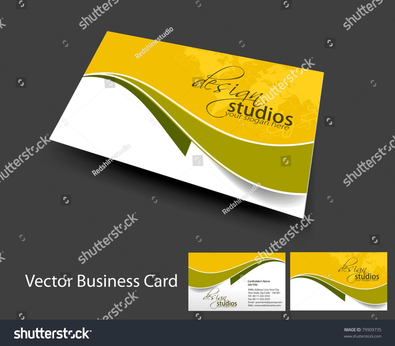 Vector Business Card Set Elements For Design
