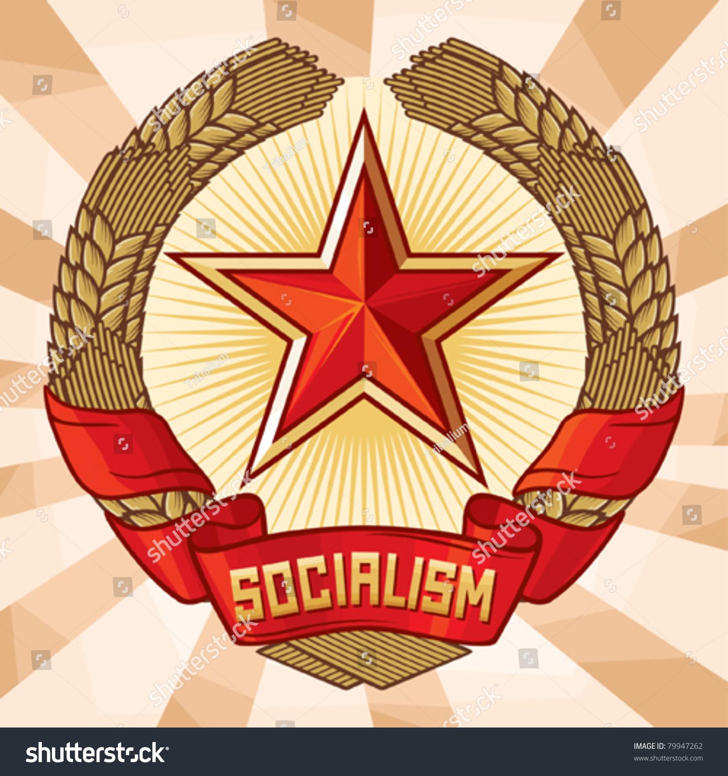 Socialism emblem a symbol communism wreath stock vector 79947262 socialism emblem a symbol of communism wreath of wheat and star biocorpaavc Gallery