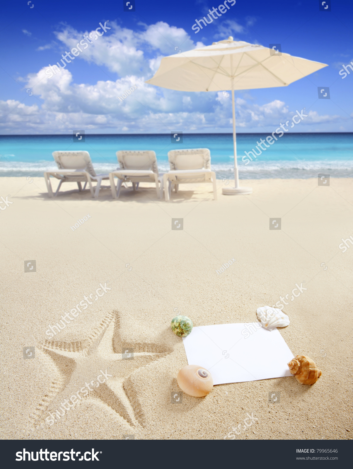 Blank paper on white sand beach stock photo 79965646 for White sand beach vacations
