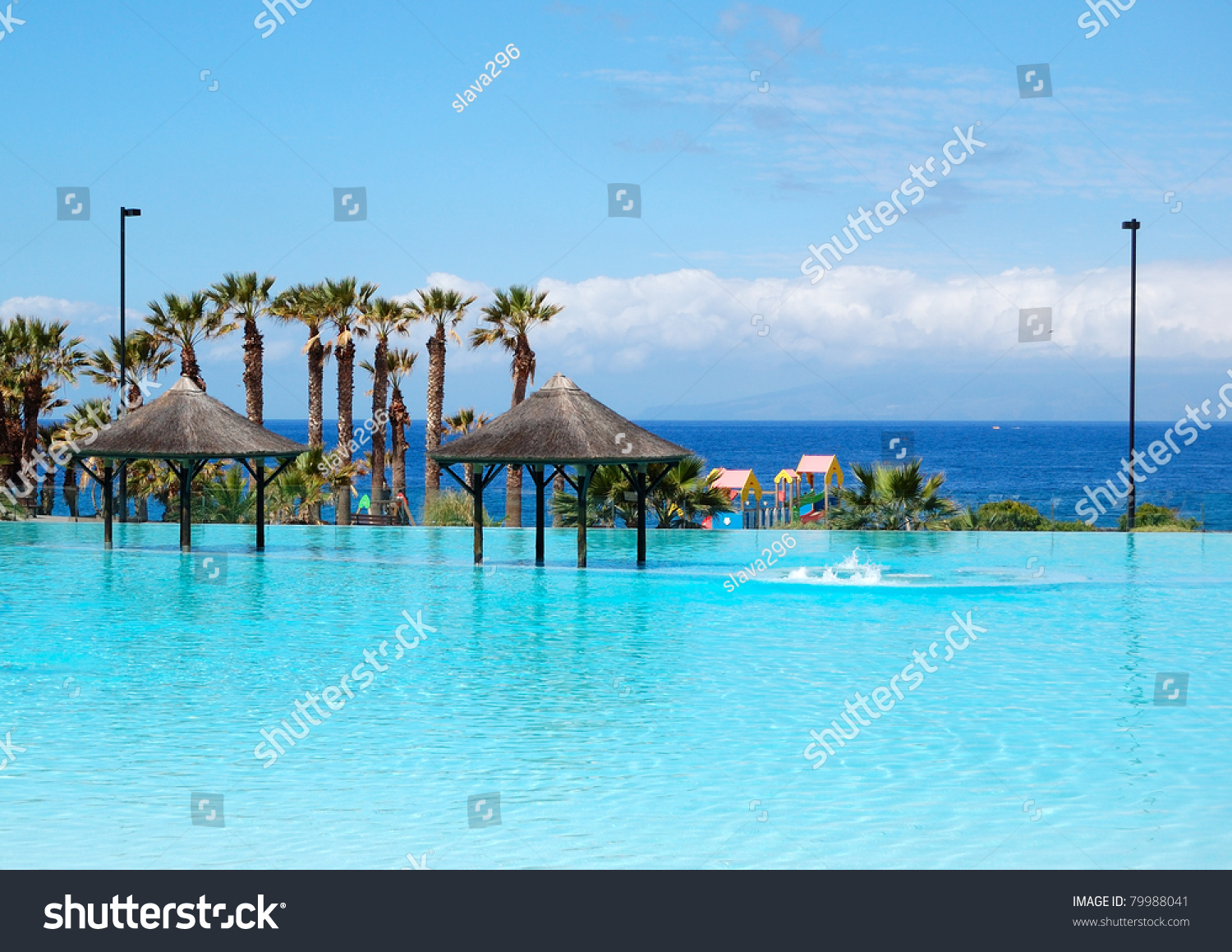 Swimming pool jacuzzi beach luxury hotel stock photo - Hotels in madrid spain with swimming pool ...