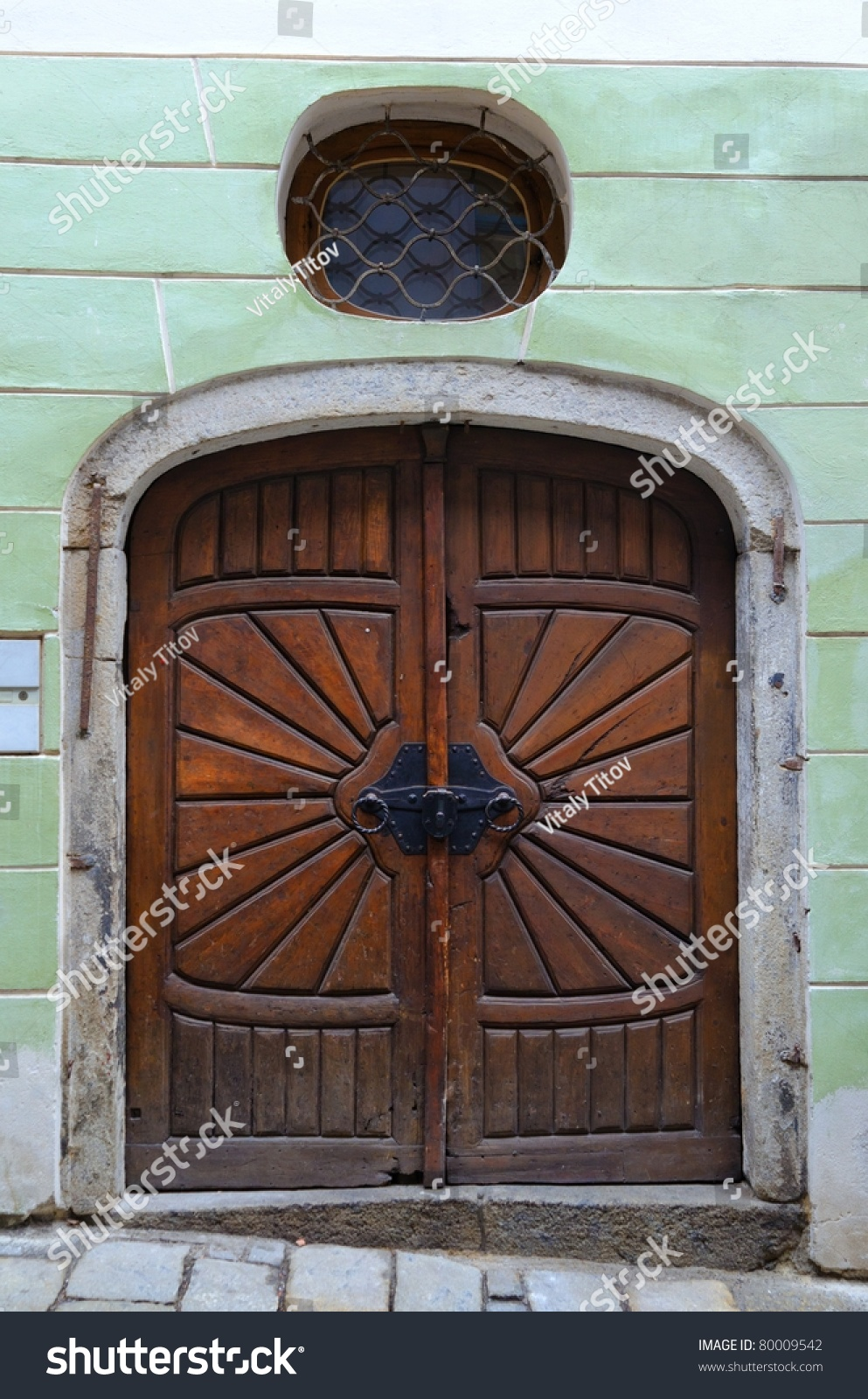 Old wooden door in prague czech republic stock photo for Door z prague
