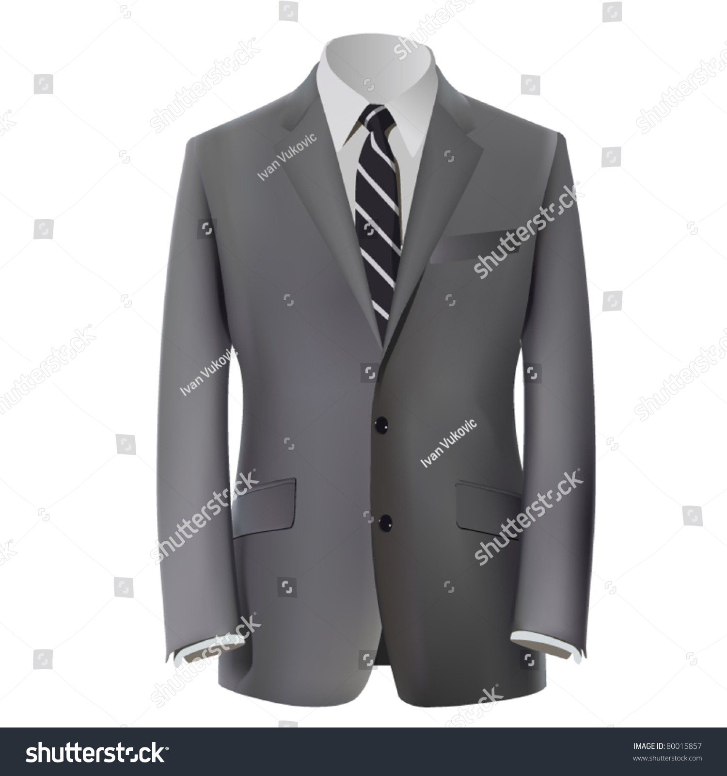 Vector grey business suit tie stock vector 80015857 shutterstock vector grey business suit with a tie ccuart Choice Image