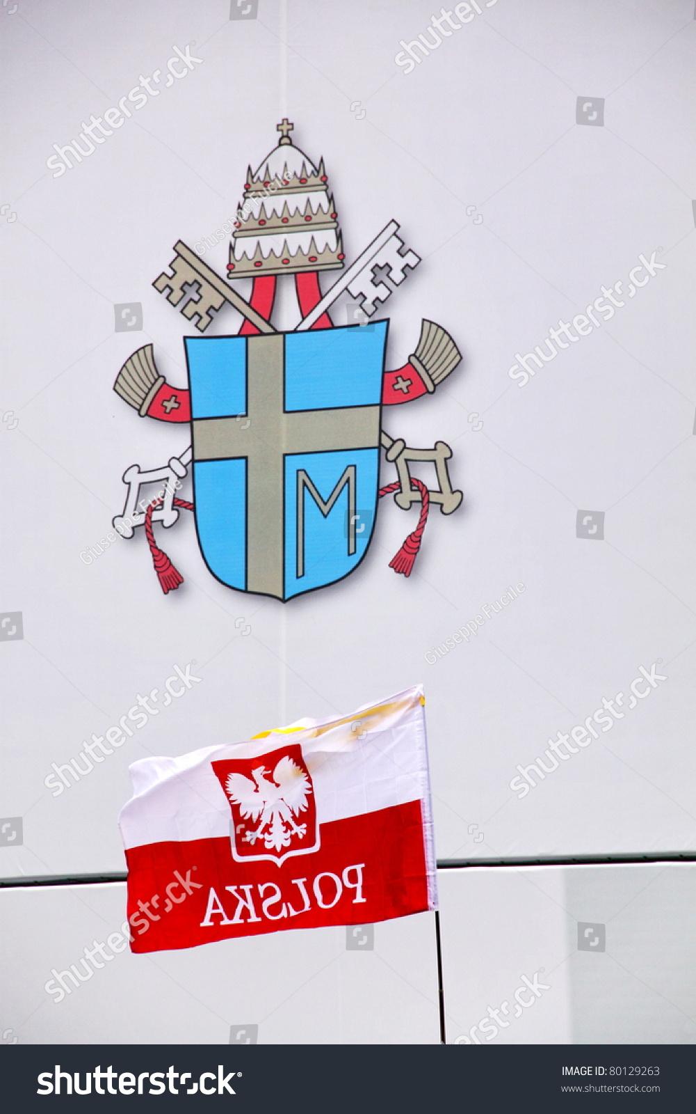 Rome may 1 polish flag hold stock photo 80129263 shutterstock rome may 1 polish flag hold near to popes john paul ii symbol during buycottarizona Choice Image