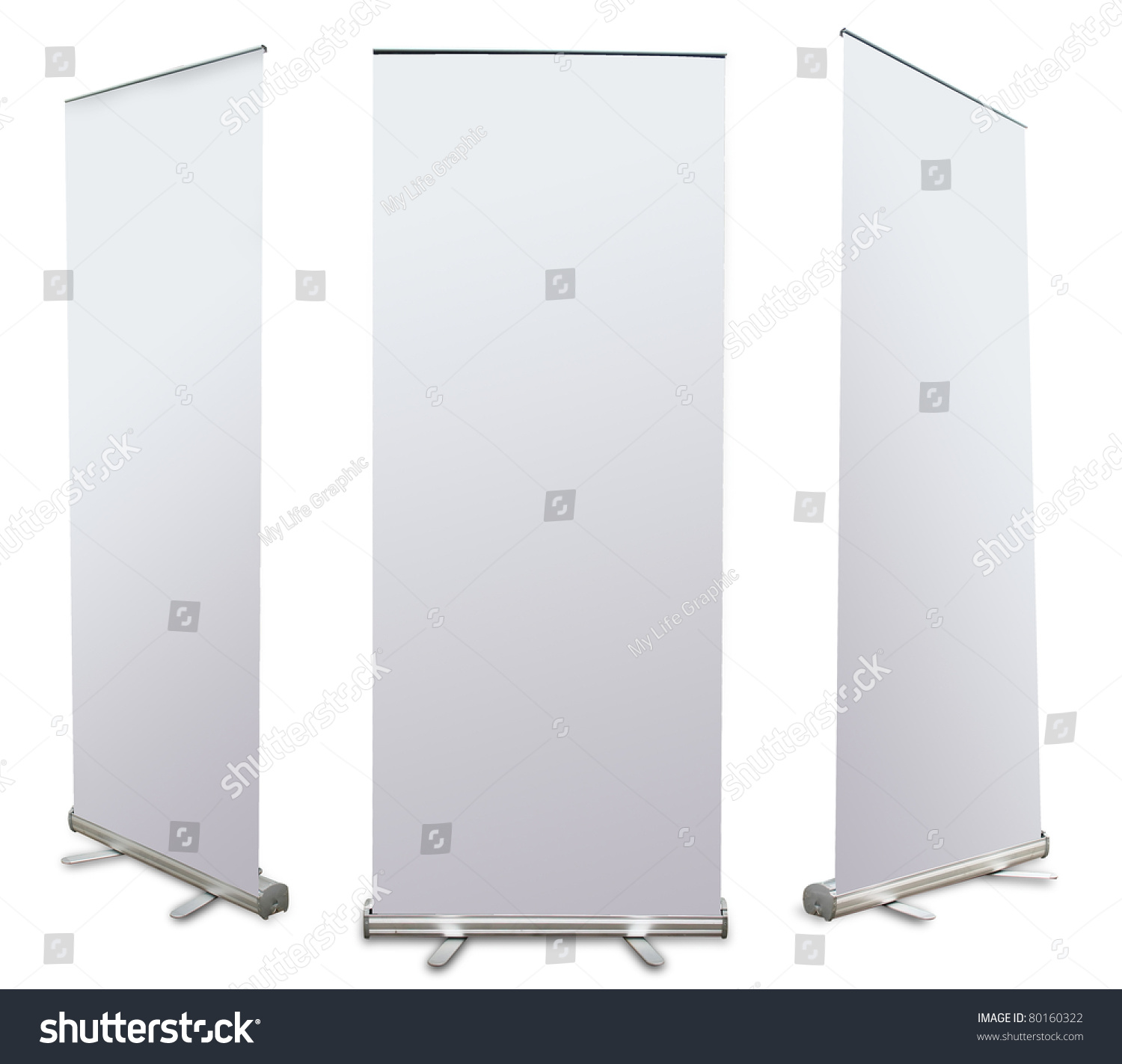 blank roll banner display 3 view stock illustration 80160322 blank roll up banner display 3 view template for design work