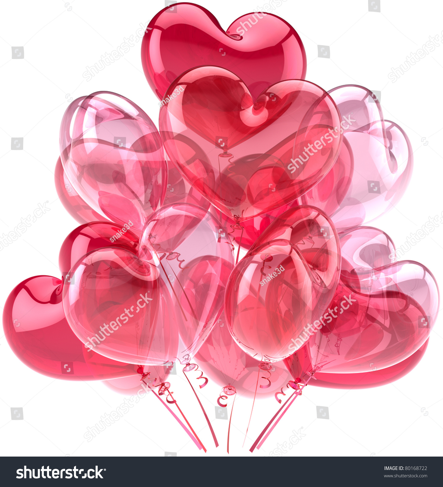 Party Balloons Heart Pink Red Birthday Valentineu0027s Day Romantic Love  Decoration. 14 February Motheru0027s Day