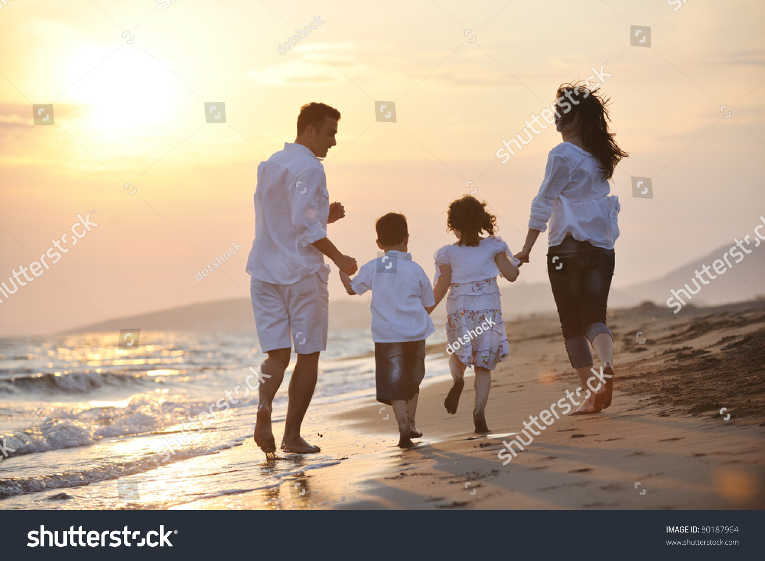 Happy Young Family Have Fun And Live Healthy Lifestyle On ...