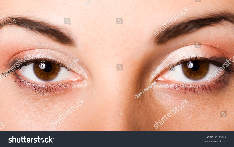 Closeup Beautiful Brown Eyes Young Girl Stock Photo 80225368 - Shutterstock