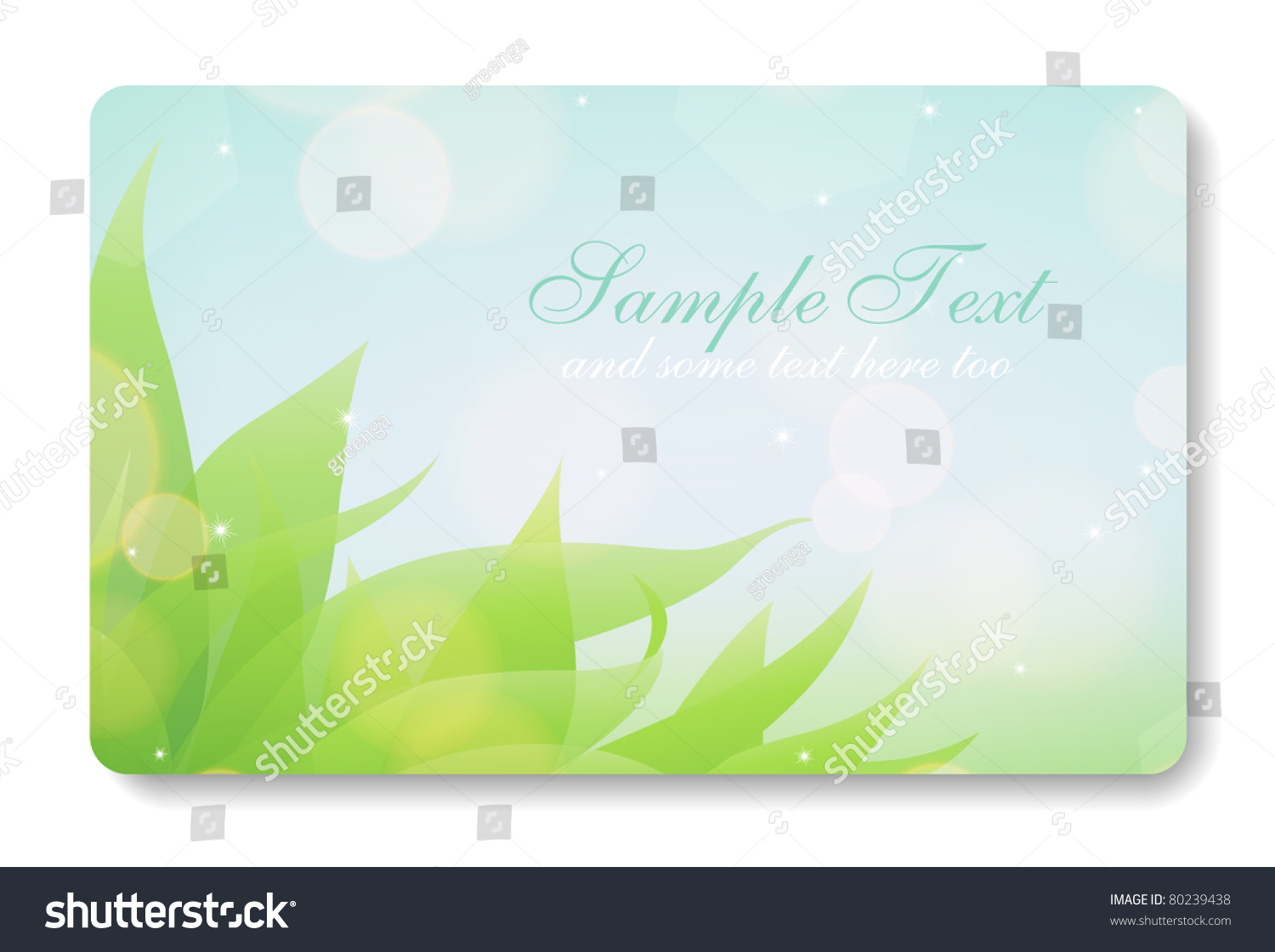Credit Card Business Card Background Design Stock Vector 80239438 ...