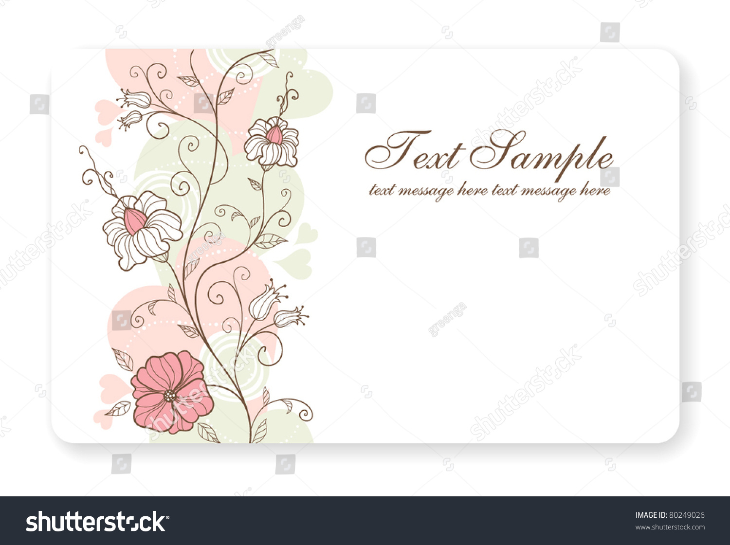Credit Card Business Card Background Design Stock Vector 80249026 ...
