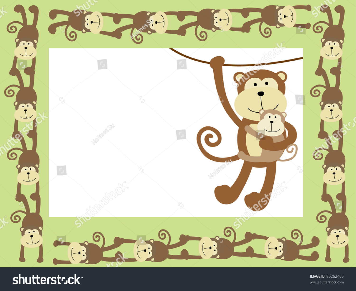 monkey frame or card - Monkey Picture Frame