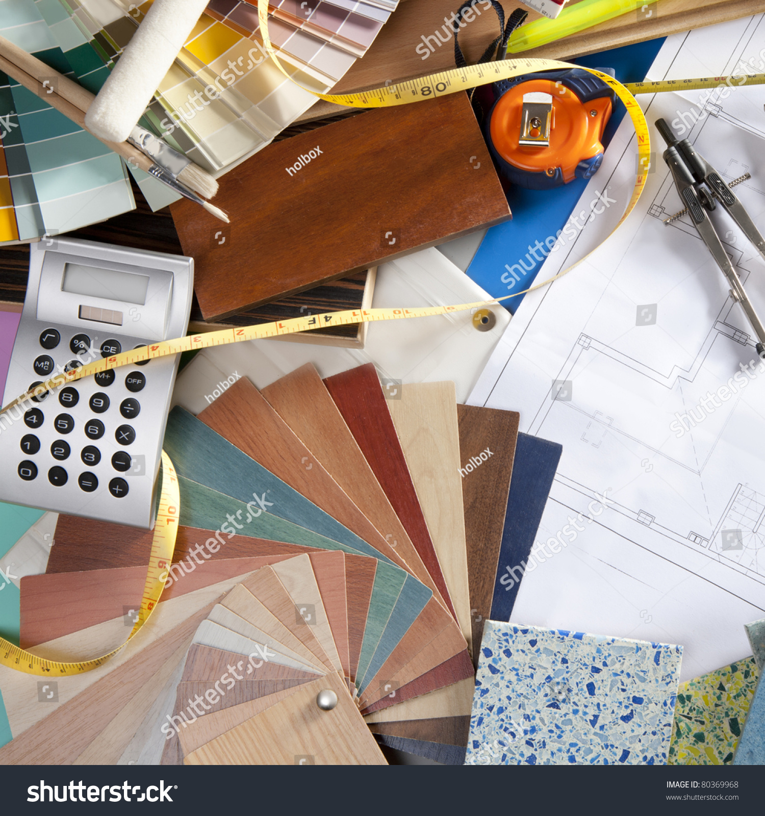 rchitect Interior Designer Workplace Desk Design Stock Photo ... - ^