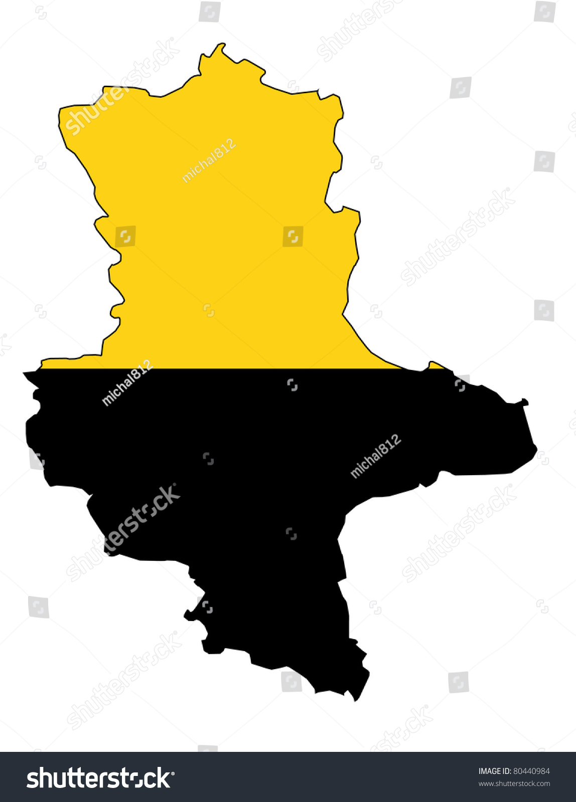 Isolated Map Saxony Anhalt Region Flag Stock Illustration 80440984