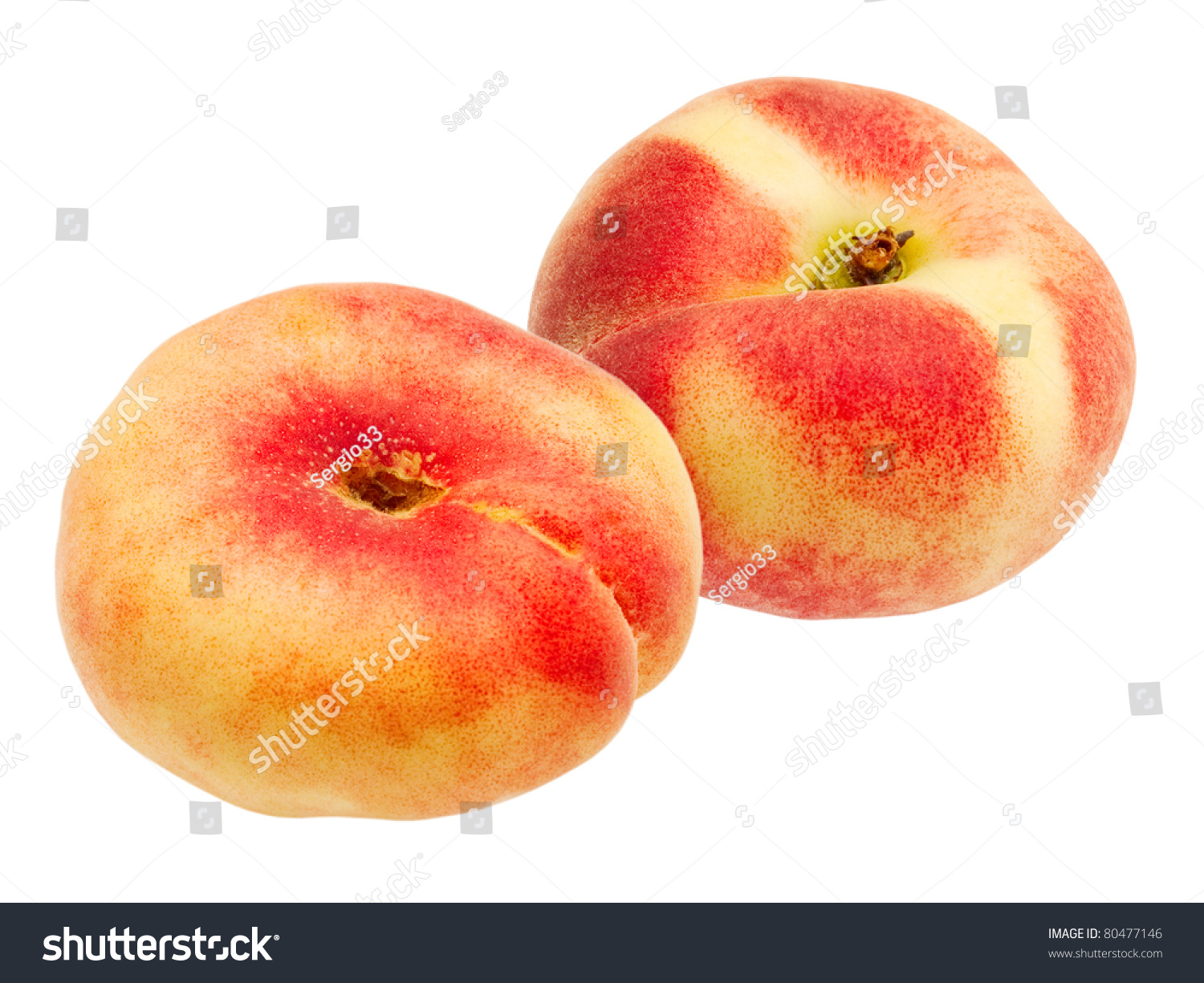 peach isolated on white background #80477146