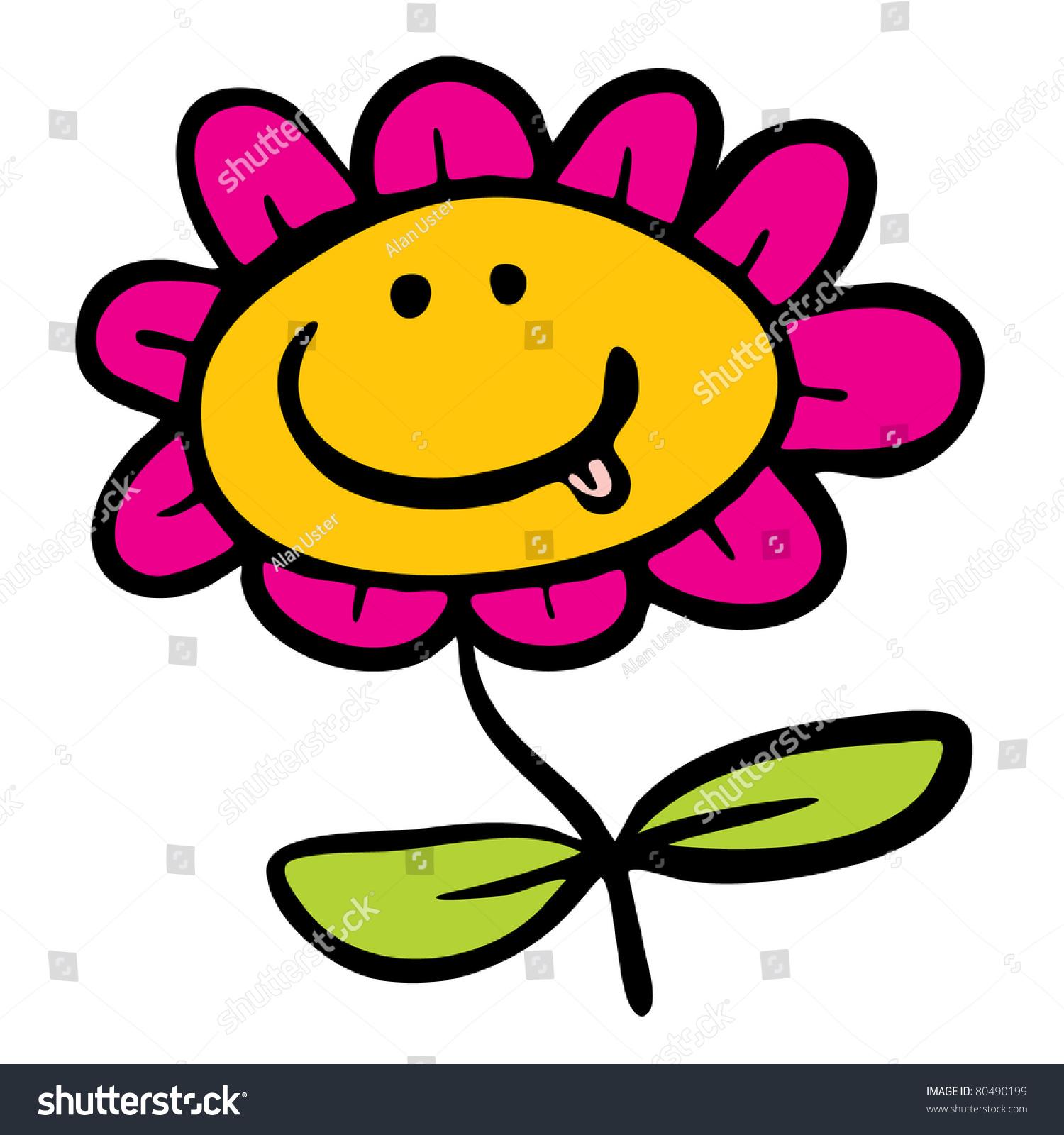 Cartoon Flower Stock Vector 80490199
