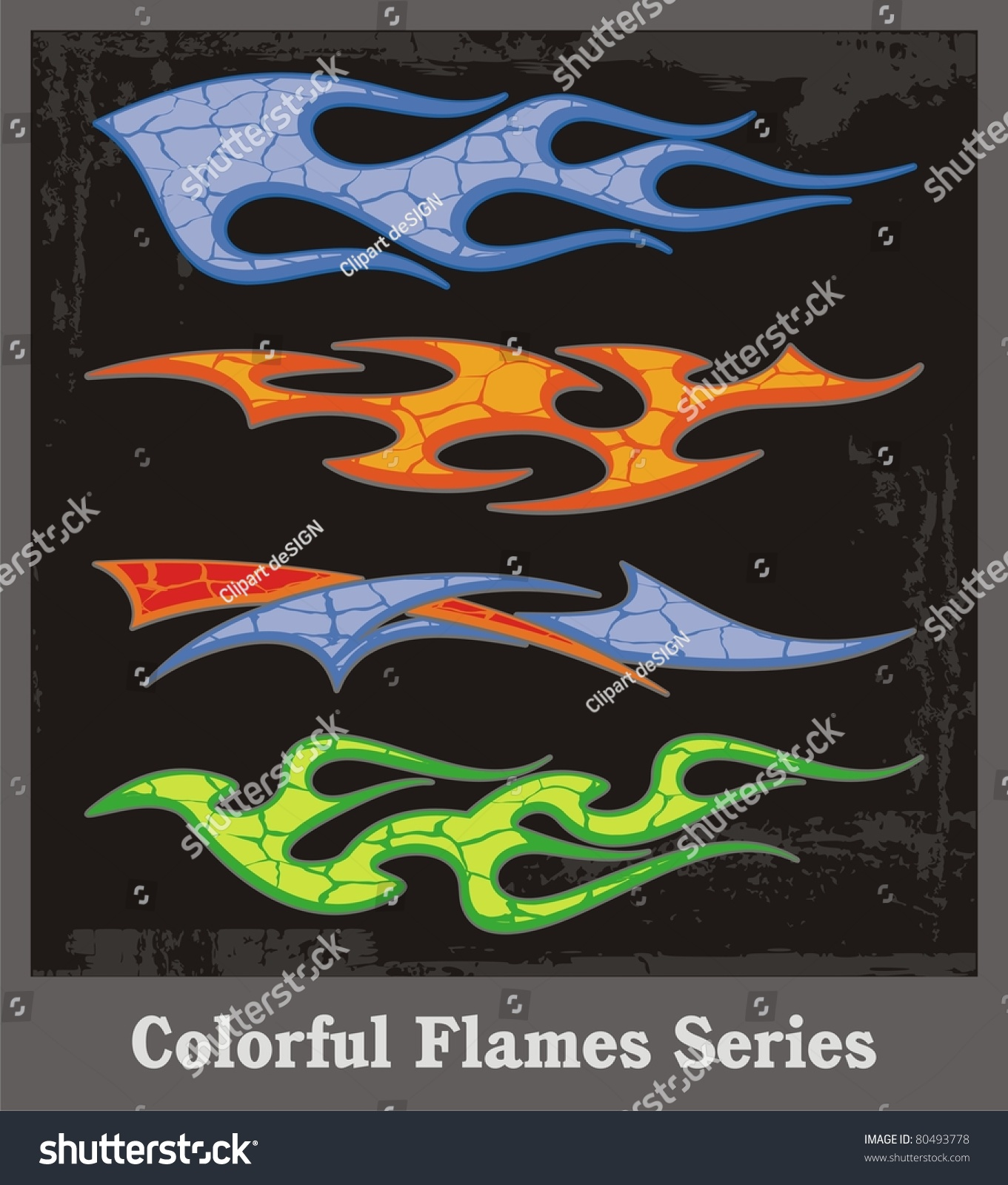 Colorful Flames And Vehicle Graphics With Grunge Patterns Great - Best automobile graphics and patterns