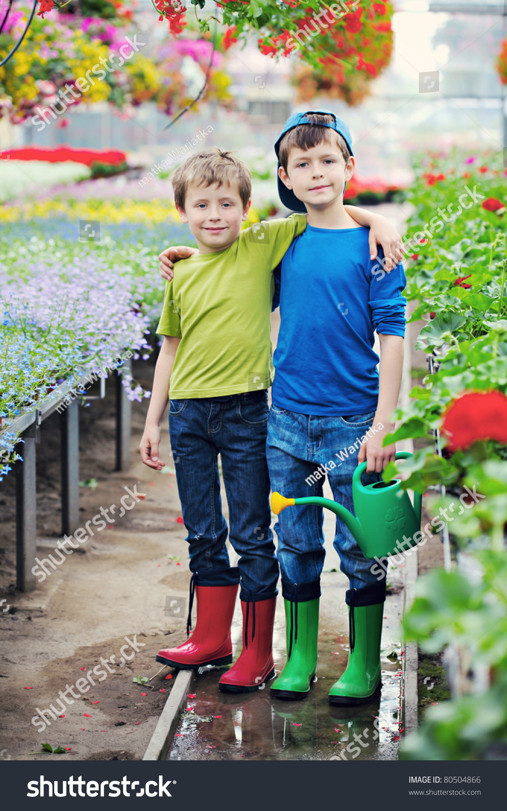 two brothers as a gardeners kids and family