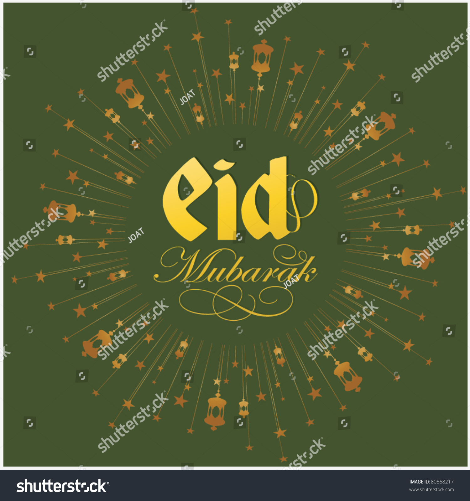 Eid greeting card vector template stock vector 80568217 shutterstock eid greeting card vector template kristyandbryce Choice Image