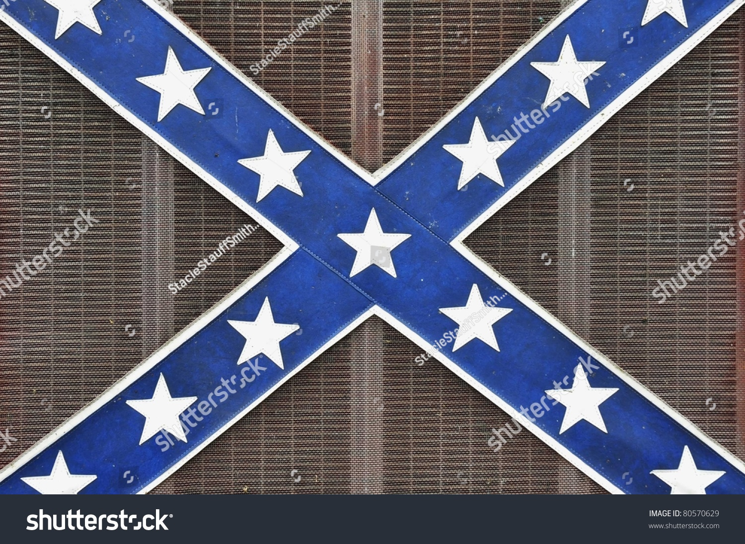 Close Confederate Flag Design On Front Stock Photo Royalty Free