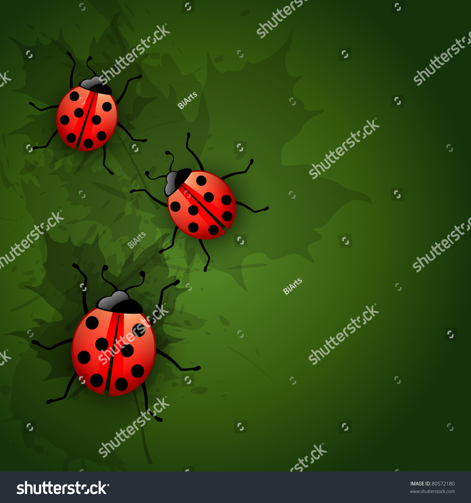 Vector Ladybug Design Art Illustration - 80572180 : Shutterstock