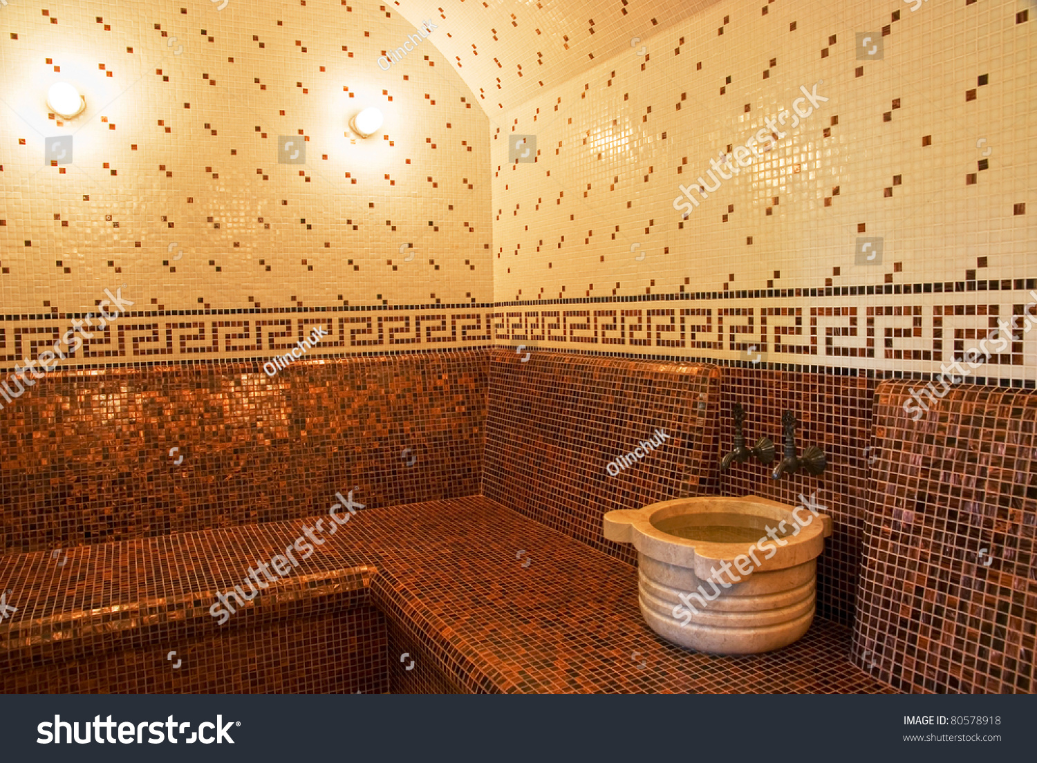 Turkish bath ceramic tile roman style stock photo 80578918 turkish bath with ceramic tile in roman style dailygadgetfo Choice Image