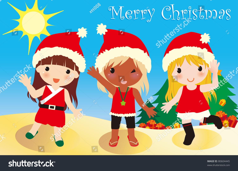 Vector Illustration About Australia Summer Christmas Stock ...