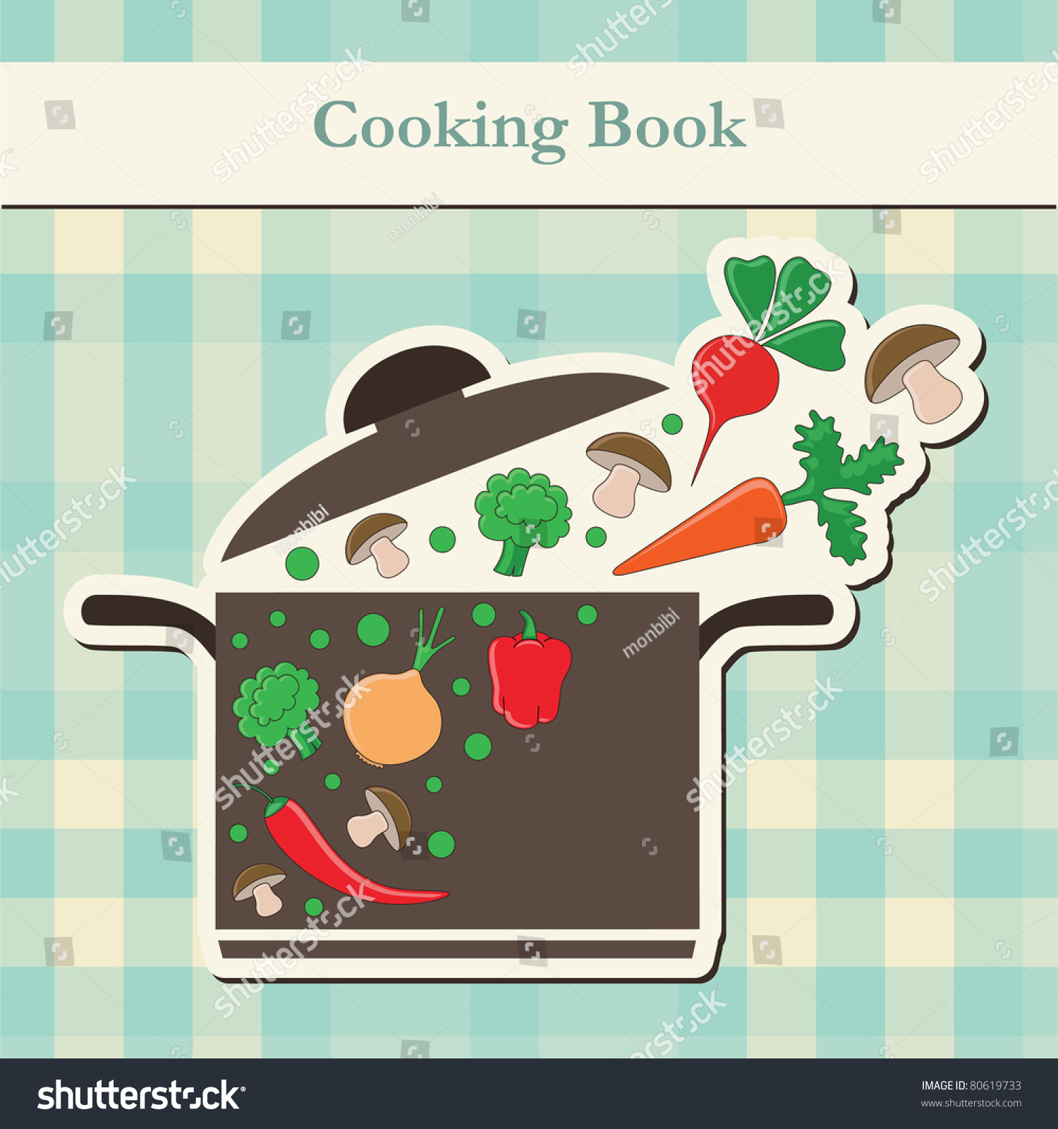 Pretty Book Cover Vector : Cooking book cover vector illustration