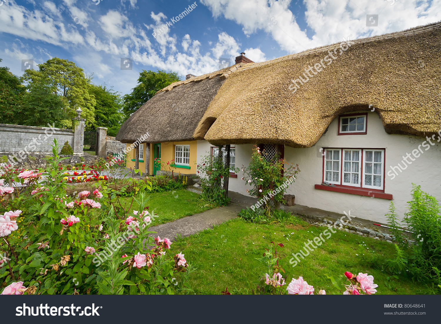 Irish traditional cottage house adare stock photo 80648641 for Adare house