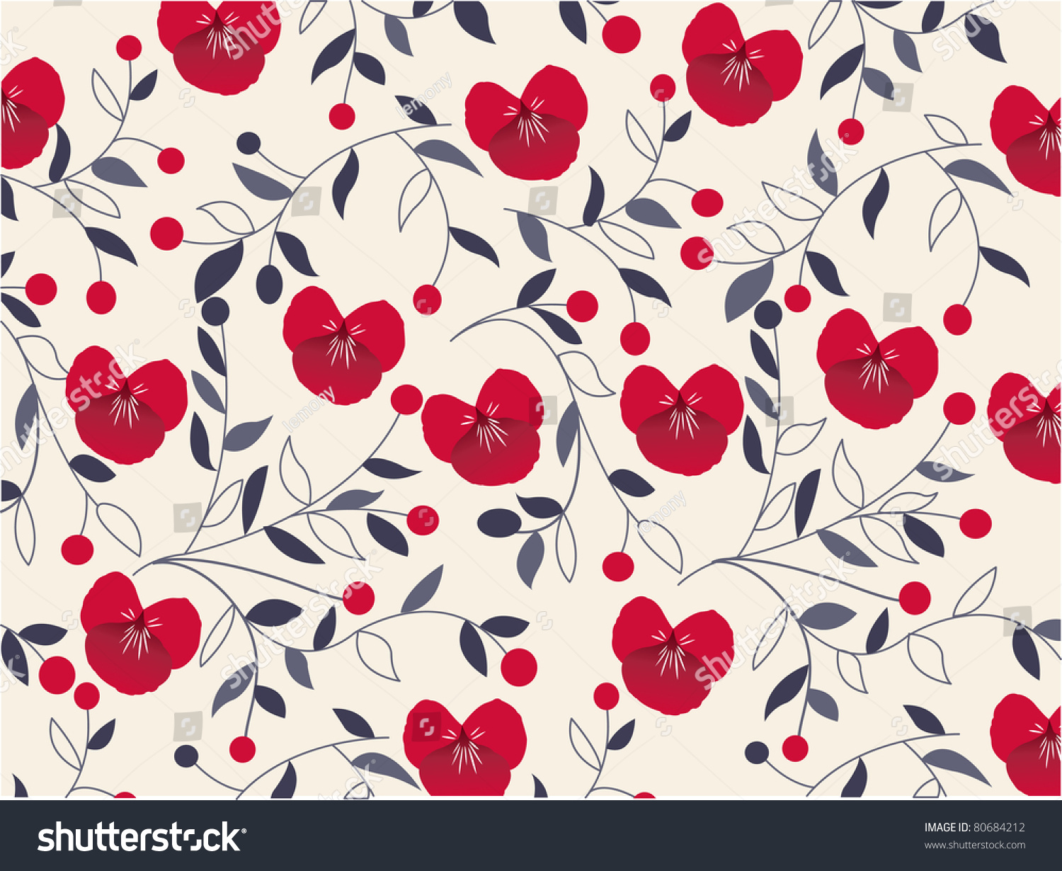 Seamless Floral Pattern Fabric Texture Stock Vector 80684212 ... for seamless floral fabric textures  66pct